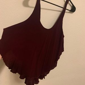 Free People Wine Colored Tank Top